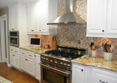 White kitchen cabinets for home in Irvine.