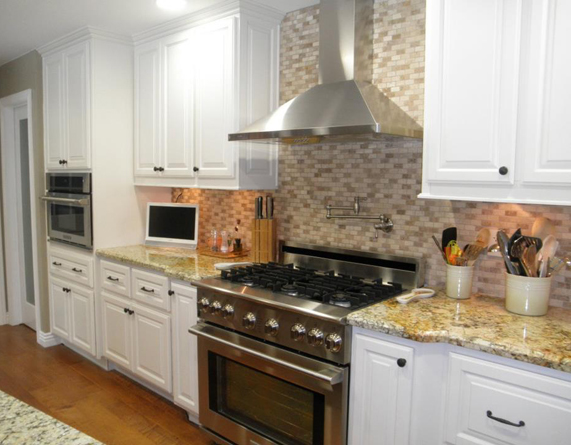 ... White kitchen cabinets for home in Irvine.