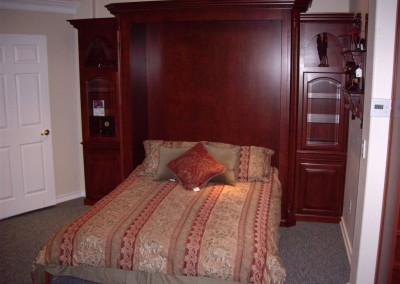 Murphy bed in open position