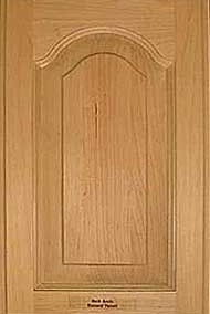 Bell arch door with raised panel