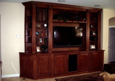 Custom entertainment centers and wall units  (102)