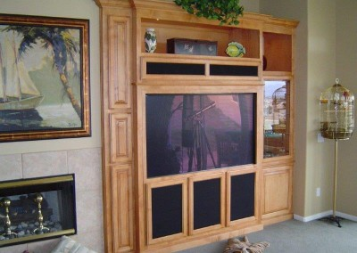 Custom entertainment centers and wall units  (105)