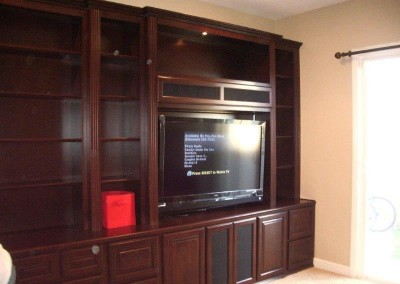 Custom entertainment centers and wall units  (108)