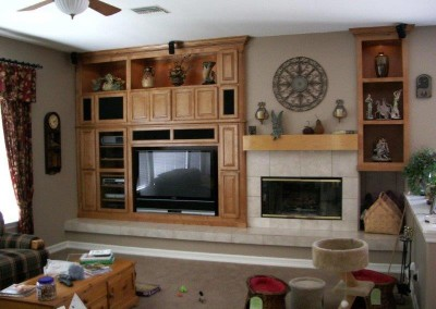 Custom entertainment centers and wall units  (121)