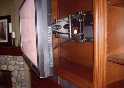 Custom entertainment centers and wall units  (124)