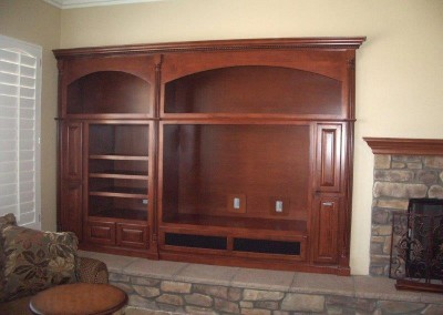 Custom entertainment centers and wall units  (129)