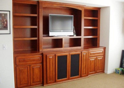 Custom entertainment centers and wall units  (155)