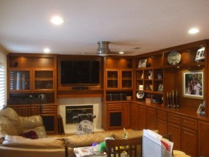 L Shaped corner wall unit