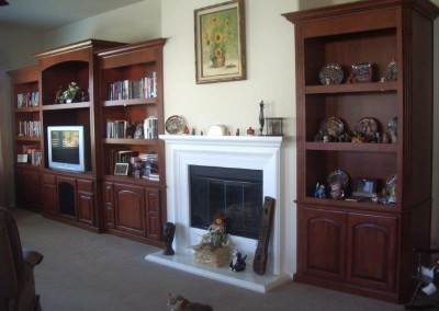 Custom entertainment centers and wall units  (174)