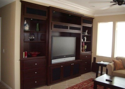 Custom built in wall unit cabinets