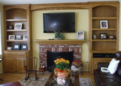 Custom entertainment centers and wall units  (186)