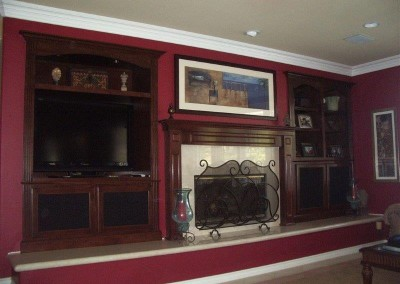 Custom entertainment centers and wall units  (194)