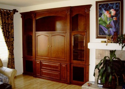 Custom entertainment center cabinets in Mission Viejo