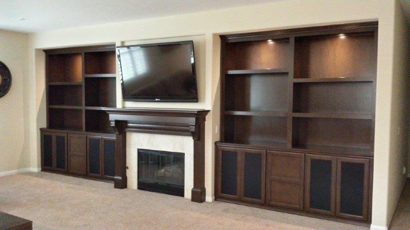 Custom entertainment centers and wall units  (237)