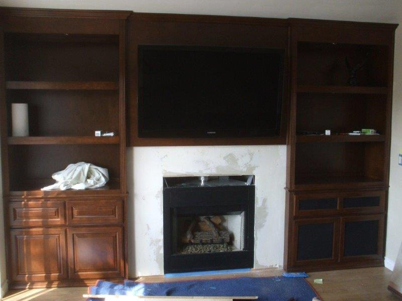 Custom entertainment centers and wall units  (242)