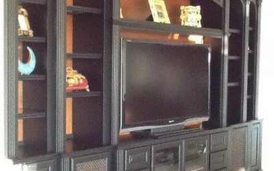Open backed entertainment center