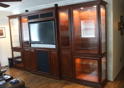 Custom entertainment centers and wall units  (270)