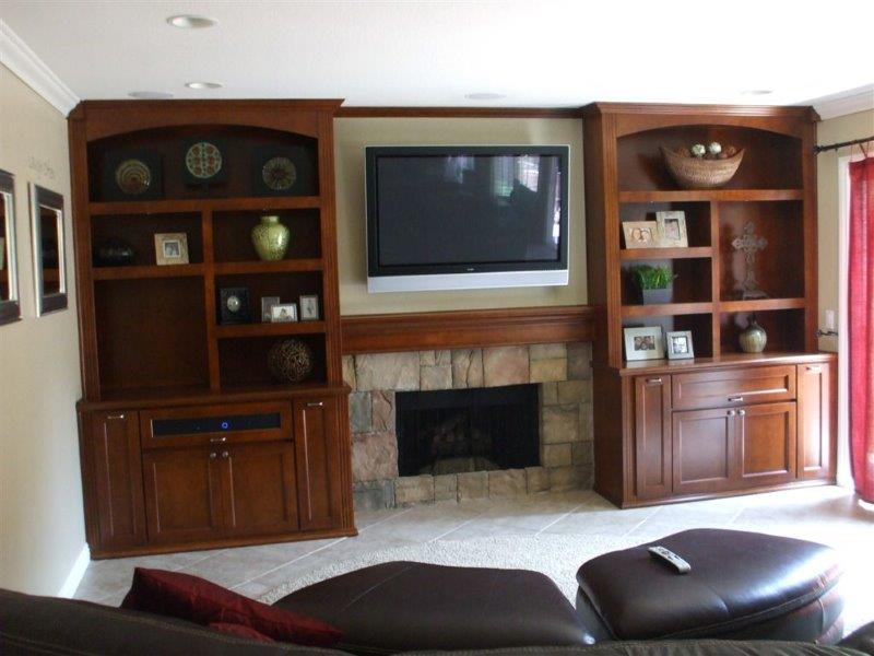 Custom entertainment centers and wall units  (273)