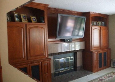 Custom entertainment centers and wall units  (281)