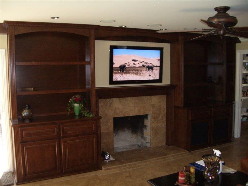 Custom Wall Units With Fireplace Custom In Wall Cabinets