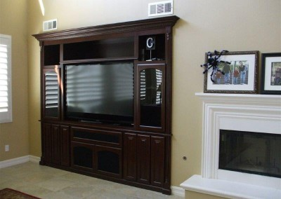 Custom entertainment centers and wall units  (302)