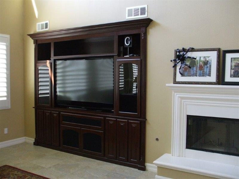 custom tv cabinets tv stands and built in entertainment centers in corona ca 14389