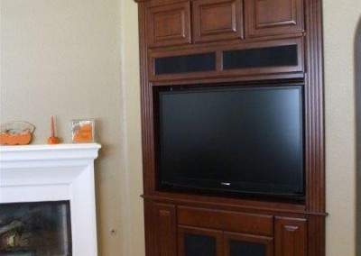 Custom entertainment centers and wall units  (307)