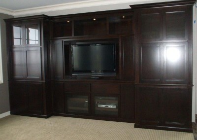 Custom entertainment centers and wall units  (308)
