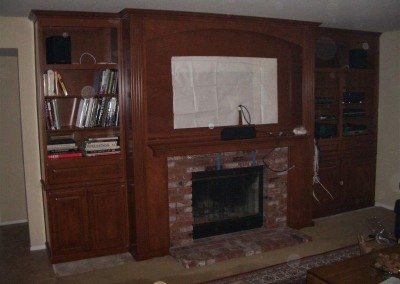 Custom entertainment centers and wall units  (318)