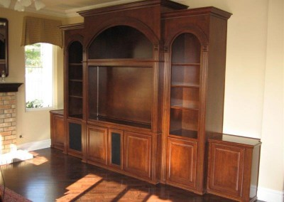 Custom entertainment centers and wall units  (321)