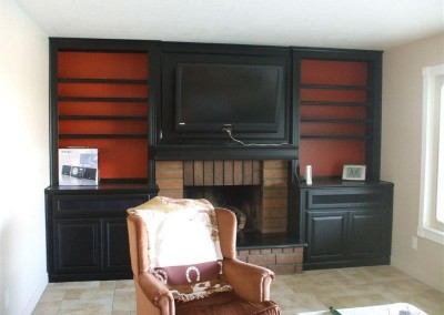 Custom entertainment centers and wall units  (328)