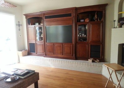 Custom entertainment centers and wall units  (376)