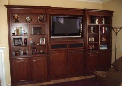 Custom entertainment centers and wall units  (47)