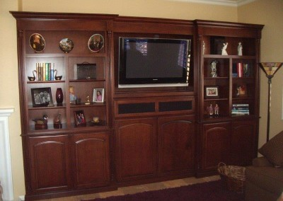 Custom entertainment centers and wall units  (84)