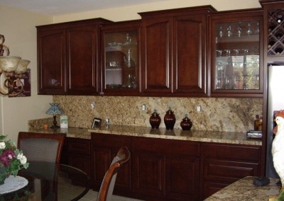 Kitchen cabinets with raised panel doors