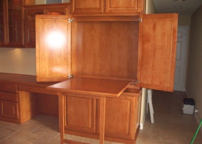 Fold down hidden desk