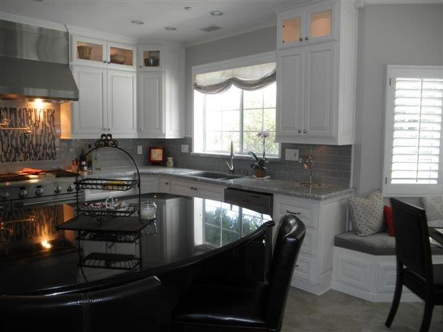 Upper cabinets with built in lighting