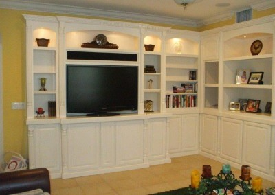 White corner wall unit