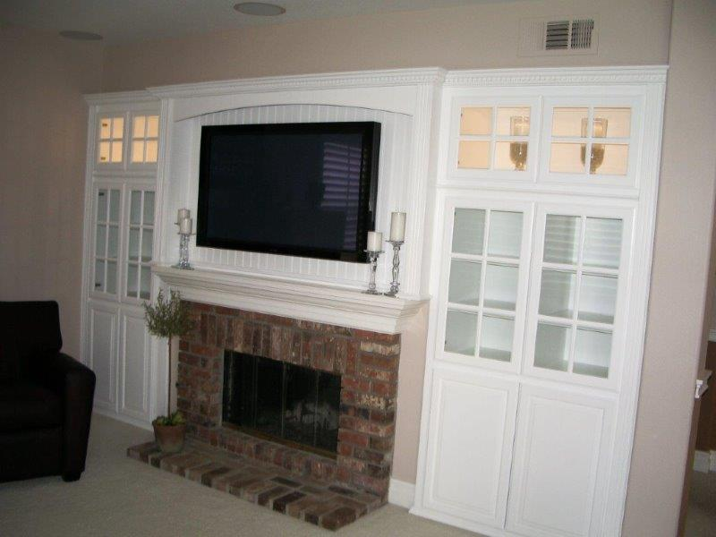 White cabinets for your entertainment center, office and kitchen