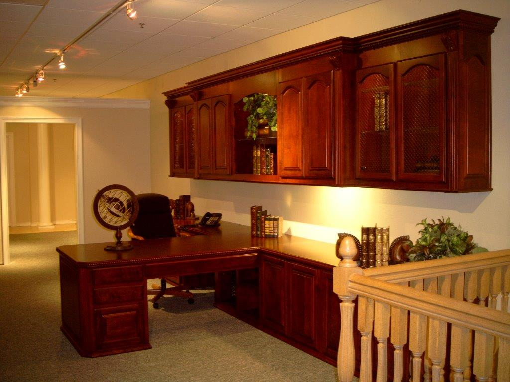 custom home office cabinets and built in desks