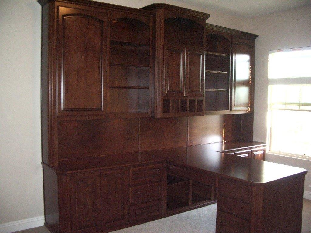 Built in desk and home office woodwork creations Built in desk