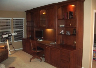 Photos Of Home Office Cabinets, Built In Desks And Bookshelves. Custom  Window Seat And Bookcases · Built ...