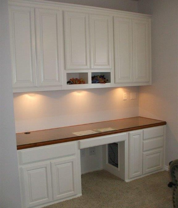 Custom cabinets with a two-toned look