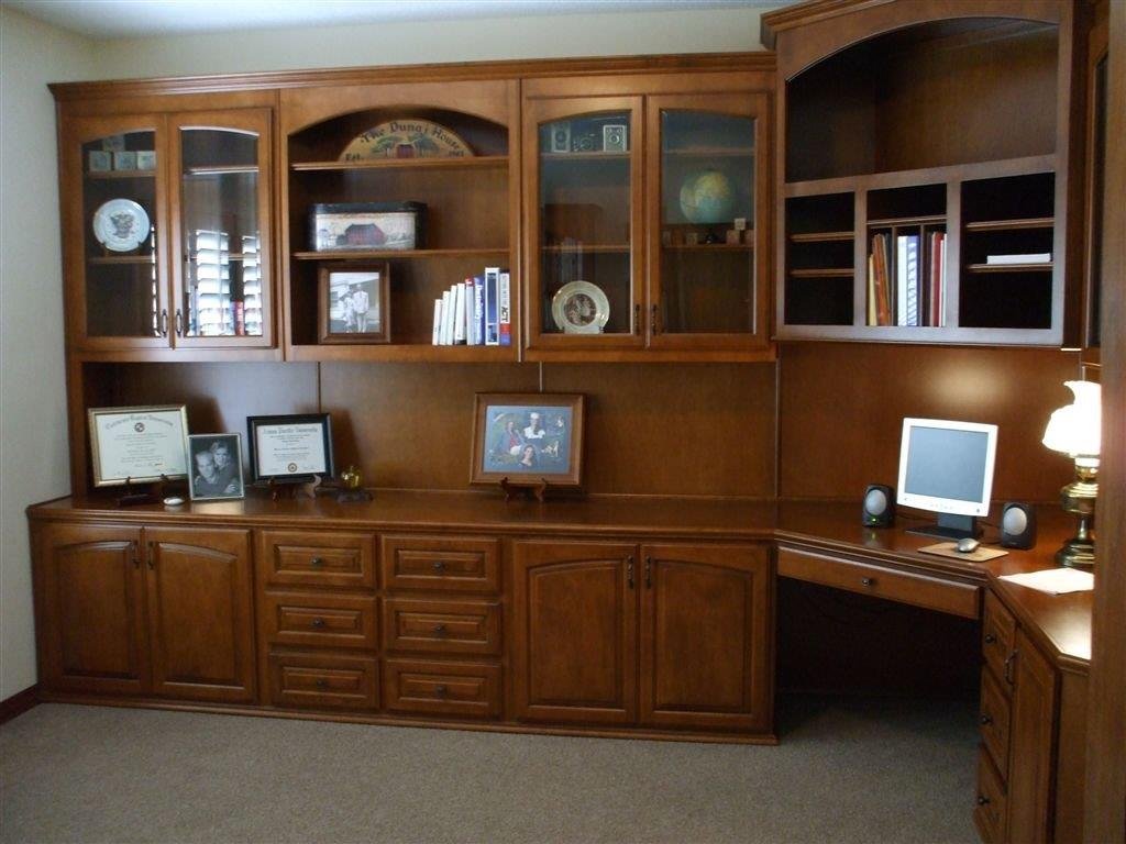 Custom home office cabinets and built in desks - Custom office desk ...