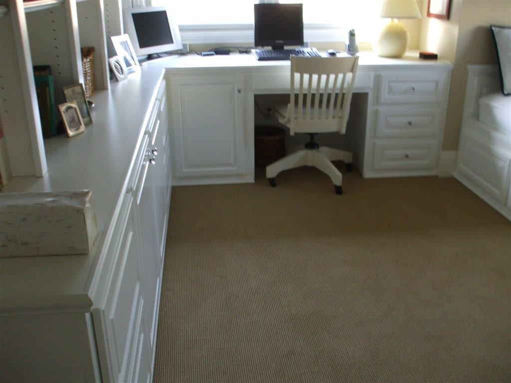 Custom home office furniture can provide maximum storage and
