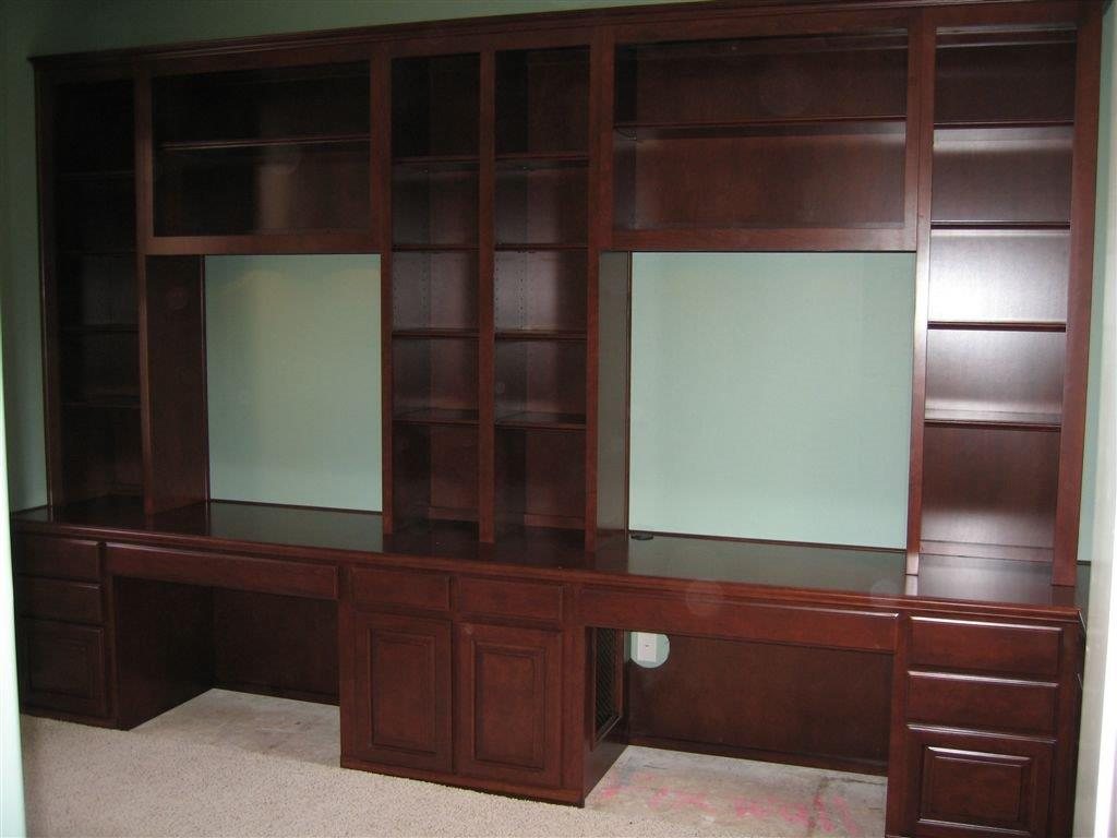 Built in desks for home office custom home office Built in desk