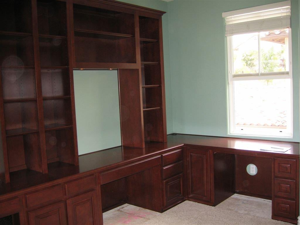 built in desks for home office custom home office