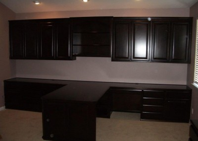 home office cabinetry design. Custom cabinets with a two toned look  Built Home Office Cabinets and In Desks