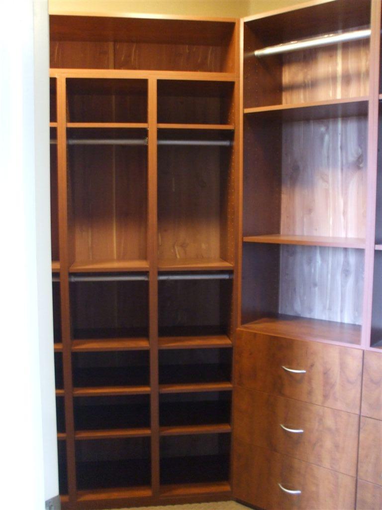 Built in closet organizer and custom closet cabinetry