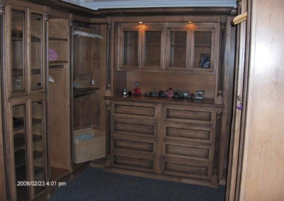 Walk in closet with built in drawers